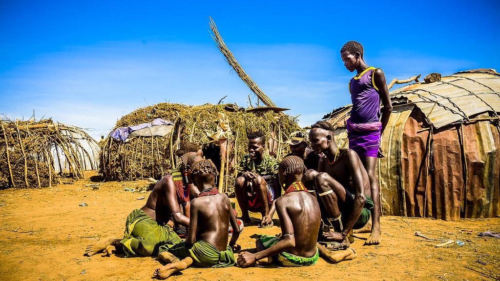 Poblado Dassanech, Ethiopia