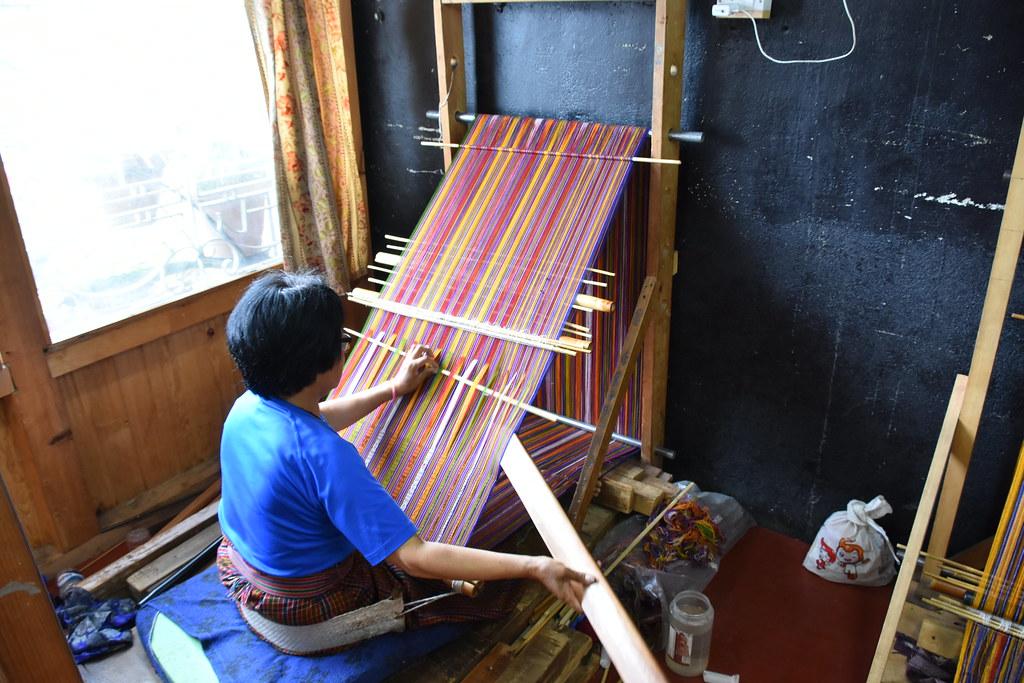 Fabric woven by weavers famous in Bhutan