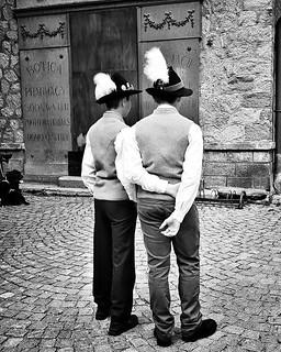 Boys #costume #boys #kids #hat #folklore #traditional #blackandwhite #bw #gressoney #valdaosta #igers #igersitalia #travelgram #photooftheday #picoftheday #instagood #instago #dress | by Mario De Carli