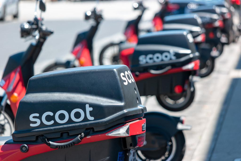 Scooter Rental San Francisco >> Scoot Rental Scooter Fleet In San Francisco Paul Wasneski Flickr