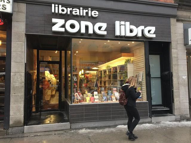 LIbrairie zone libre Québec