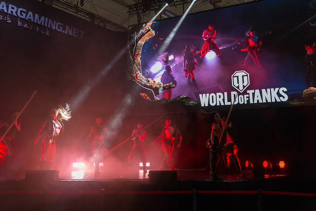 Show on the stage of World of Thanks at Gamescom