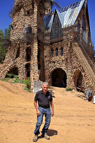 Jim Bishop and his castle