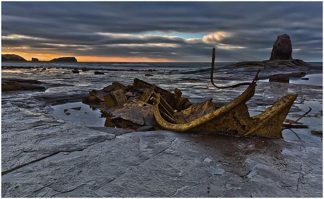 Last light,Saltwick Bay