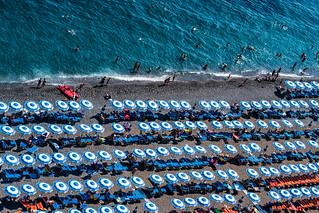 Beach Umbrellas in Positano | by nan palmero