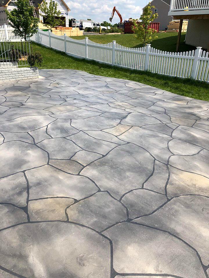 Grand Flagstone Patio  Tailored Concrete Coatings  Winches ...