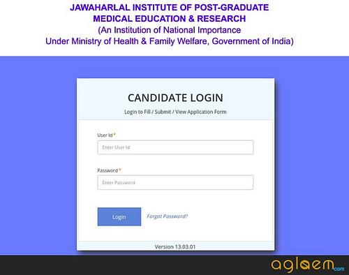 jipmer pg admit card login