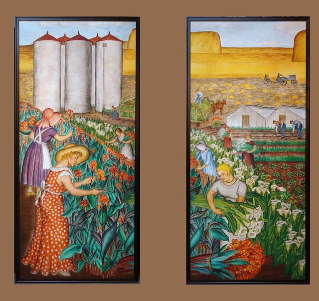 Coit New Deal mural Agriculture pairing