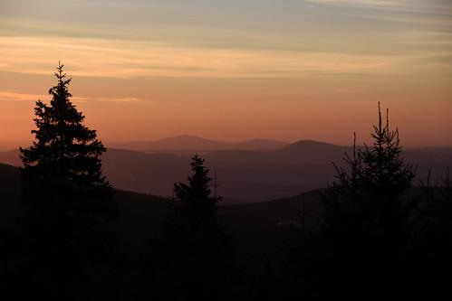 sunrise morning sudetes jelenka