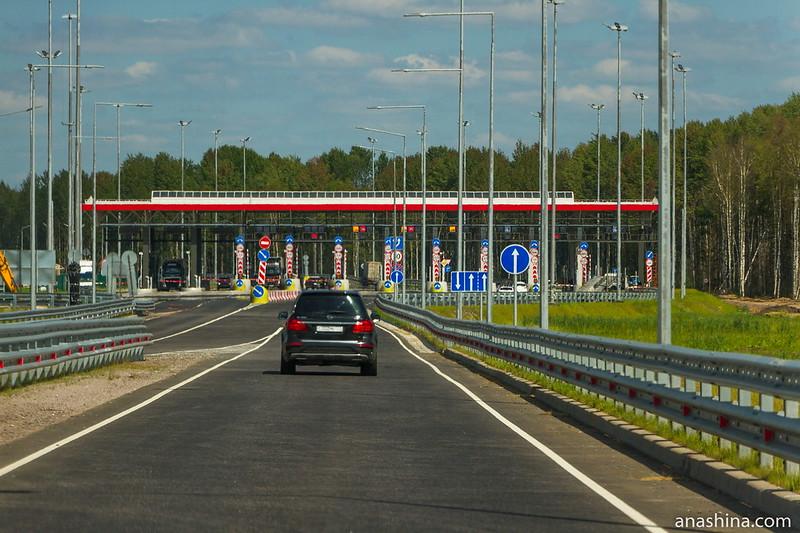 Пункт оплаты трассы М-11 в Новгородской области