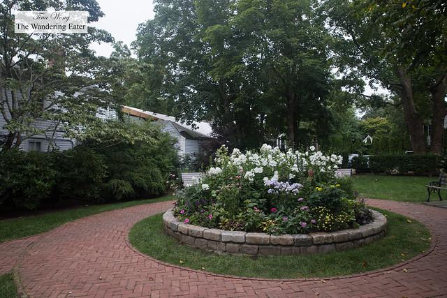 Lovely public courtyard on Main Street in Edgartown, MA