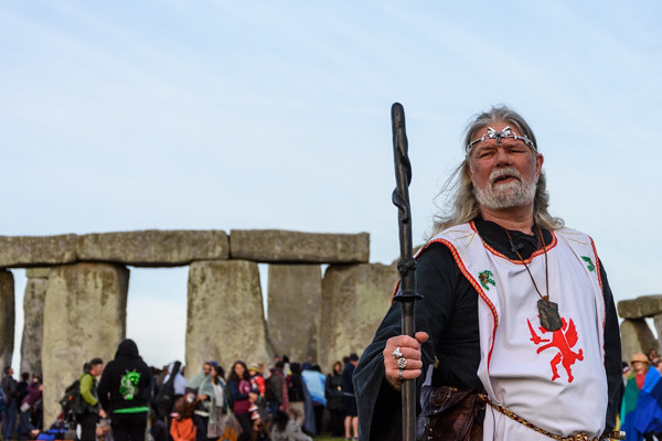Arthur Pendragon in front of Stonehenge