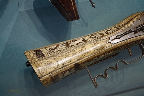 ivory inlaid rifle butt copy