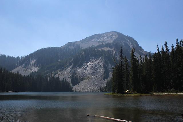 Sawtooth Peak presides over Indigo Lake
