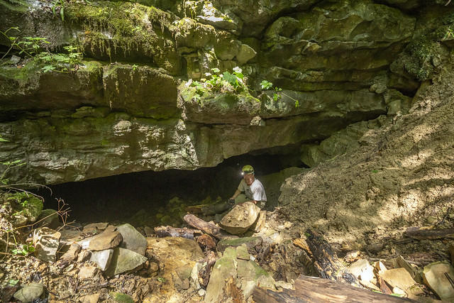 King Cave entrance, Ben Miller, Grundy County, Tennessee