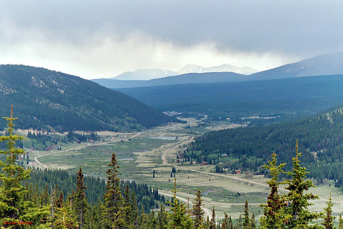 landscape scenery valley mountains clouds storm forest trees colorado unitedstates