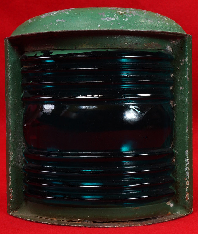 SOLD - Vintage Perkins Marine Lamp Perko Light Aqua Blue