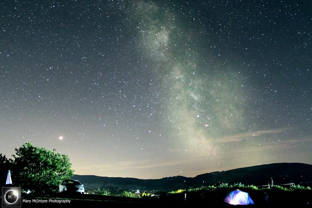 Mars & Milky Way from Builth Wells 11:10pm BST 10/08/18