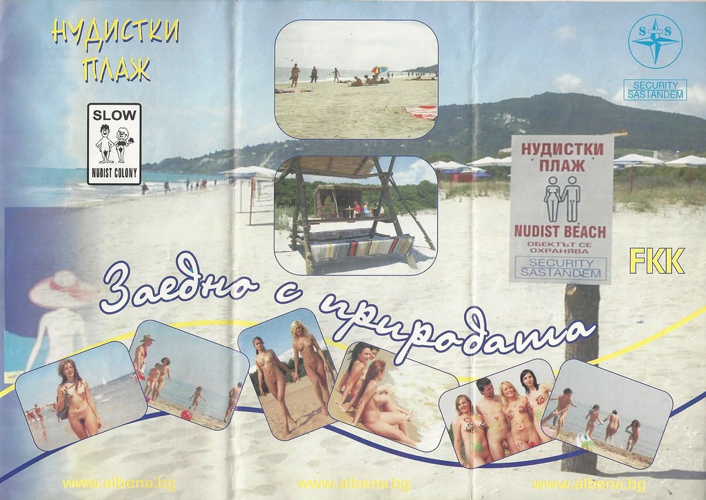FKK Nudist Beach Albena Kranevo Black Sea | Aan de kust tuss