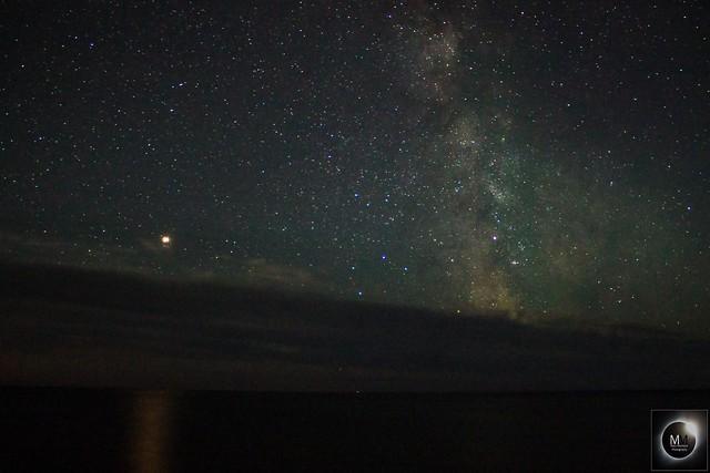 Mars & The Milky Way above the Sea 00:18BST 04/08/18