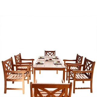 10 Chairs Black Poly Rattan Acacia Wood Space Saving Festnight 11 Piece Outdoor Garden Dining Set