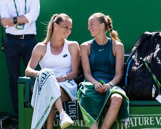 Petra Kvitova & Magda Rybarikova | by pmenzel86