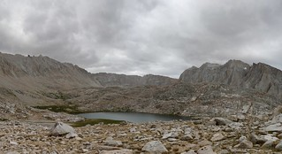1186 My first view of Guitar Lake as I crest the ridge on the John Muir Trail, Mount Hitchcock on the right | by _JFR_