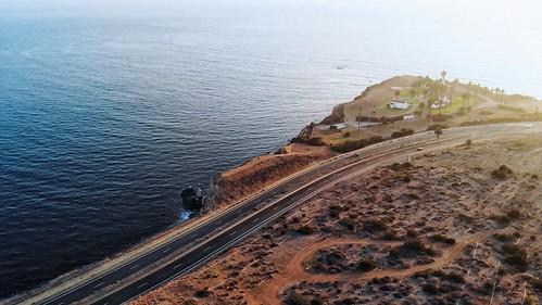mavicair dji road cliff ocean sea sunset palosverdes aerialphotography