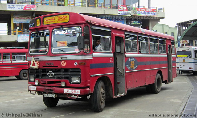 Antony bodied TATA LP 1510/52 bus from SLTB Nuwara-Eliya depot