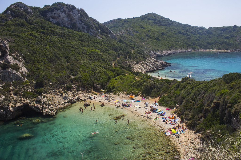 Image result for porto timoni corfu beach