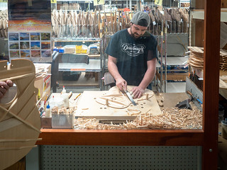 Hand carving top braces | by Ed Rosack