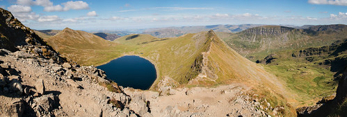 striding stridingedge edge helvellyn lake district lakedistrict cumbria england north hills hill mountains mountain tarn red redtarn blue water green landscape landscapes land scape walking uk unitedkingdom panorama panoramic panoramiclandscape