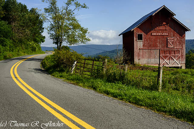 Country Road and Barn