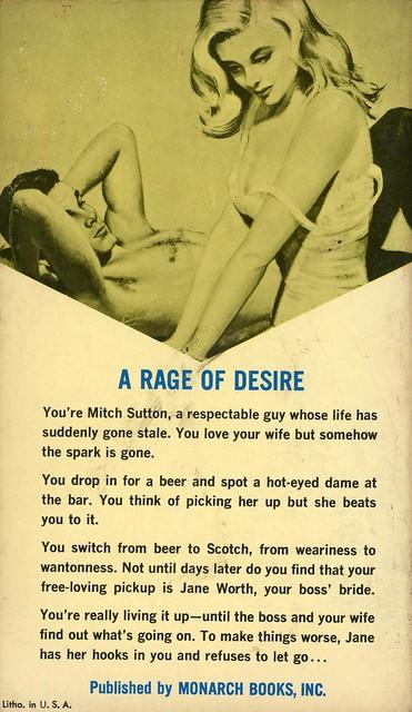 Monarch Books 417 - Clayton Matthews - A Rage of Desire (back)