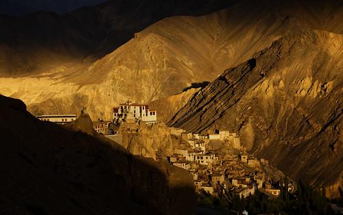 lamayuru gompa monastery magiclight sunset mountains ladakh jammukashmir india canon 5dmarkiv landscape goldenhour buddhist religious ancient mountain mountainside milestoneenterprisein milestoneenterprise