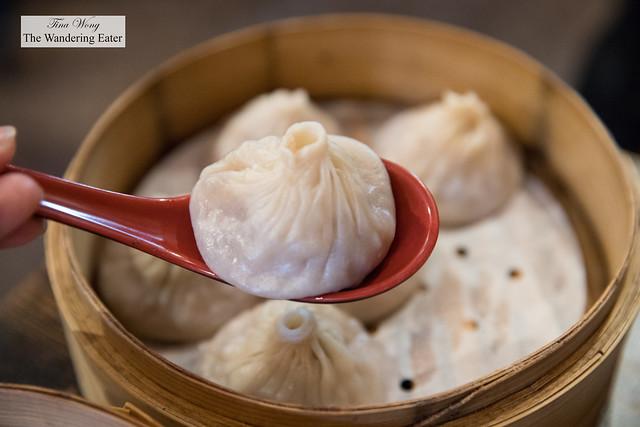 Pork xiao long bao (小籠包; soup dumplings)