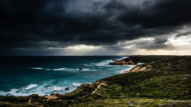 Squall approaching Sorrento Back Beach