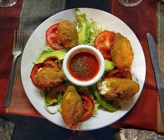 Flores Rellenos at the restaurant 'Sabor de Puebla' in Puebla, Mexico