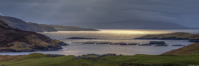 Winter light over Mangaster Voe; Shetland Islands