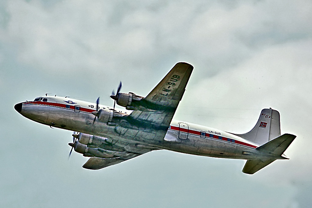 LN-SUB Douglas DC-6B [45496] (Braathens SAFE) Gatwick~G 14… | Flickr