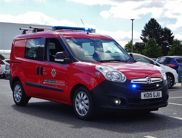 West Midlands Fire Service Technical Resue Vauxhall Combo KO15 GJU (170), Solihull.