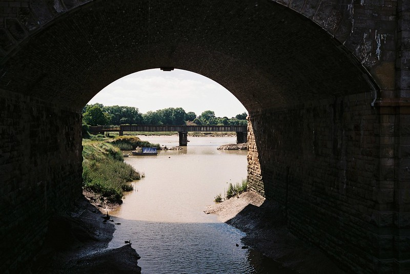 Sea Mills weir - looking west to the Avon