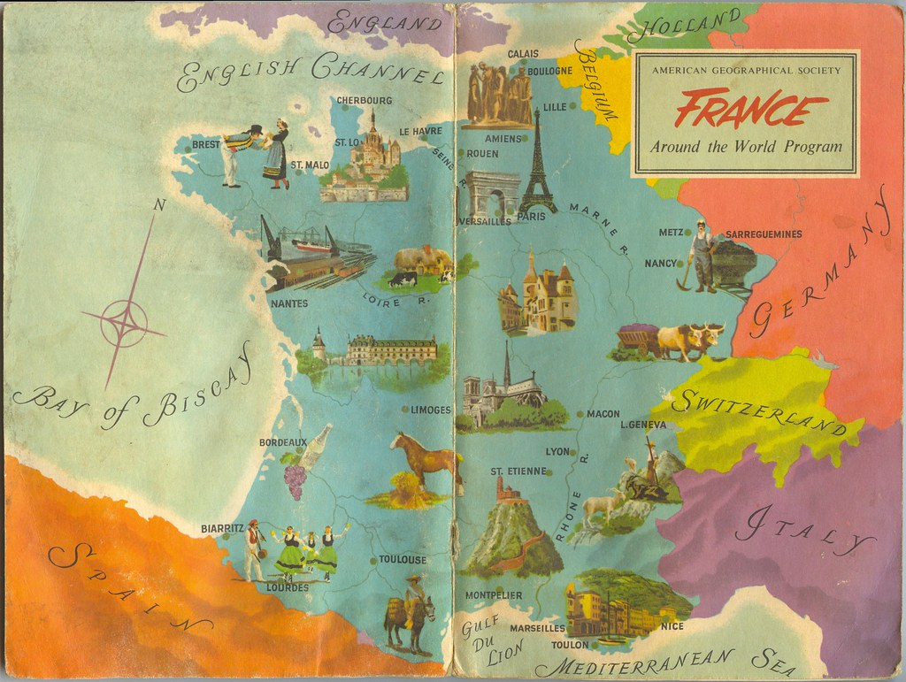 Geographical Map Of France.France Cover From The American Geographical Society S Aro Flickr