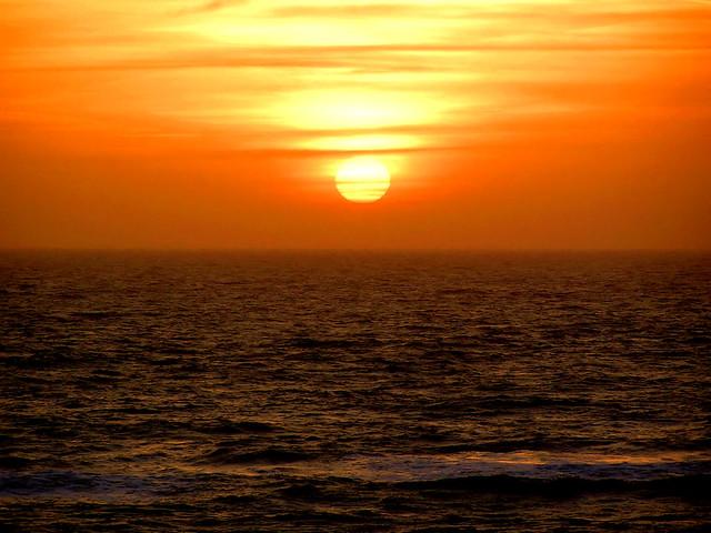 Zonsondergang bij Camperduin