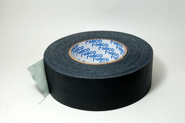 black gaffing tape DSC_0421