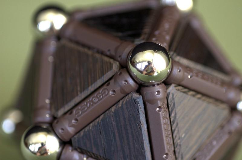 Geomag wood icosahedron
