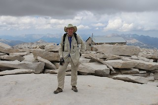 1605 Another shot of me on Mount Whitney's summit with the Summit Hut in the background | by _JFR_
