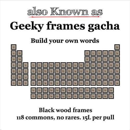 also Known as - Geeky frames gacha Black Wood | by ~ also Known as ~ (Second Life)