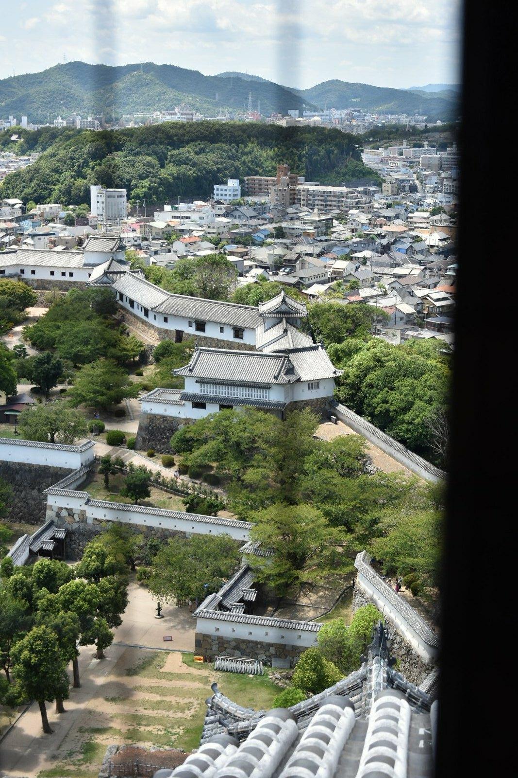 Château d'Himeji - Vue depuis le dernier étage