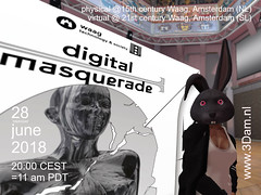 28june2018, De Waag, Amsterdam NL + SL: Digital Masquerade - #SL15B